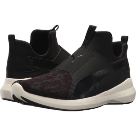 Puma Rebel Mid VR Women Training Shoes Black NWT